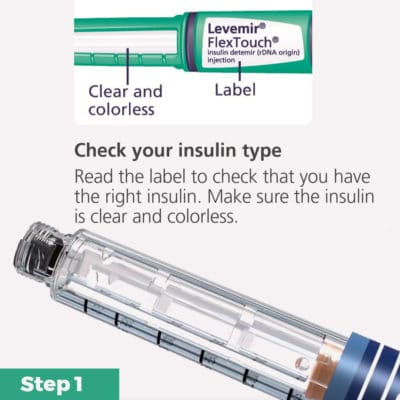 FlexPen Insulin Pen Quick Guide Step 1