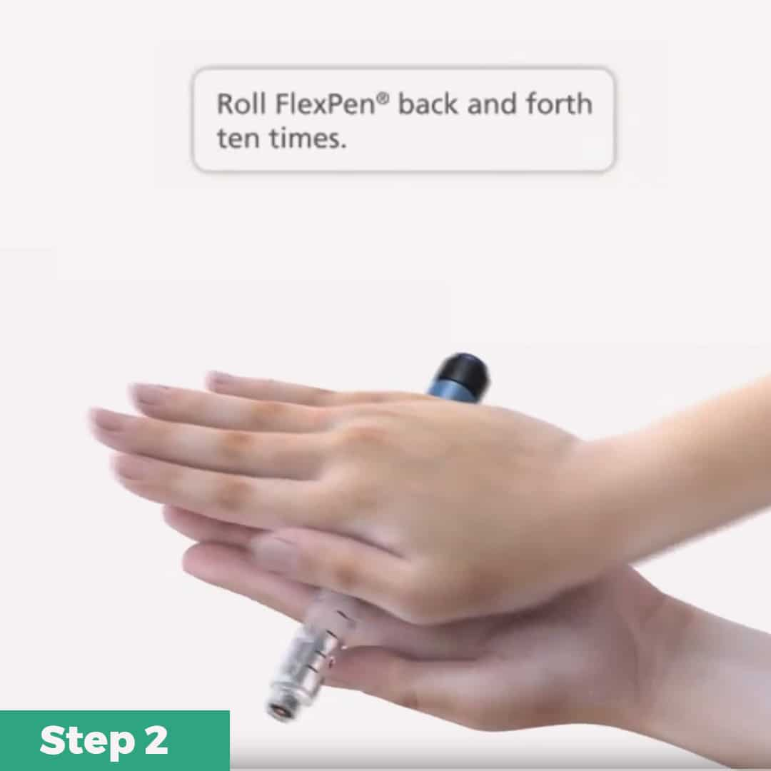 FlexPen Insulin Pen Quick Guide Step 2