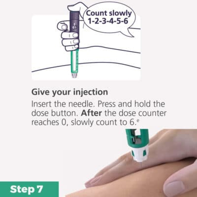 FlexPen Insulin Pen Quick Guide Step 7